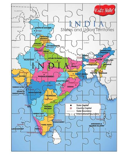 Kidz Valle India Map Jigsaw Puzzle Set Multicolour 48 Pieces Online on southwest asia map states, bangladesh map states, colombia map states, india states list, india punjab british, national map with states, australia map states, continental united states map states, india states and cities, sudan map states, india territories, nigeria map states, ecuador map states, india geography, india population density, the united states map states, pakistan map states, india and its states, indonesia map states, china map states,