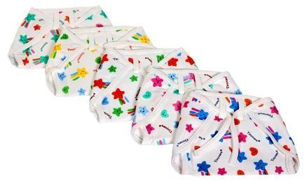 Tinycare Cloth Nappy Comfy Junior Large - Set Of 5