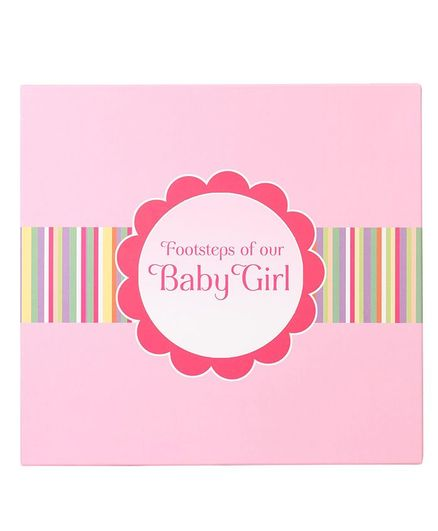 Archies Footsteps of Your Baby Girl Book - Pink
