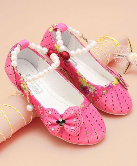 134d06b6ebb Buy Cute Walk by Babyhug Party Wear Belly Shoes Butterfly Applique Pink for  Girls (4-4 Years) Online, Shop at FirstCry.com - 2143116