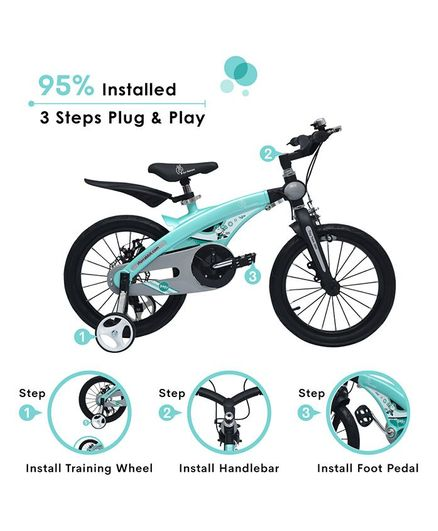 0feab3b6d04 R for Rabbit Tiny Toes Jazz Plug N Play Bicycle Light Blue 16 inches ...