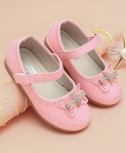 3f1e068af5d Buy Cute Walk by Babyhug Party Wear Belly Shoes Butterfly Detail Pink for  Girls (1-12 Months) Online, Shop at FirstCry.com - 2146402