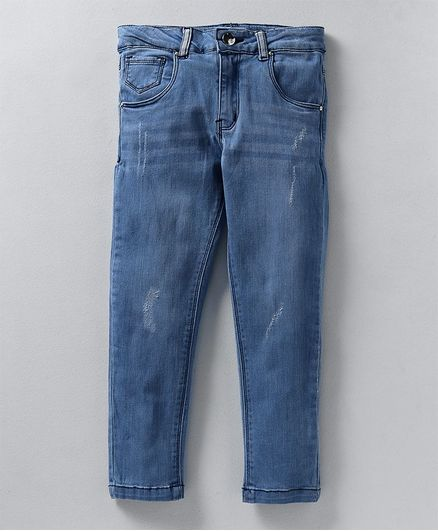 Babyoye Full Length Distressed Jeans - Light Blue