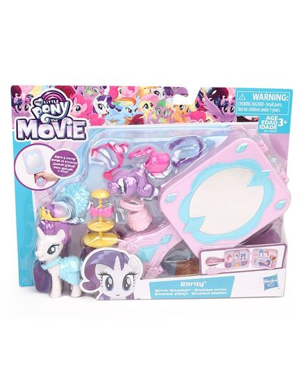 My Little Pony Rarity With Accessories - Height 5.5 cm (Color May Vary)