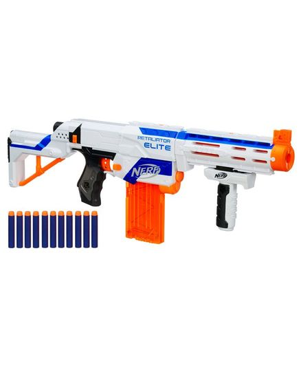 Nerf N-Strike Elite Retaliator Blaster Gun with 12 Darts - Blue & Orange