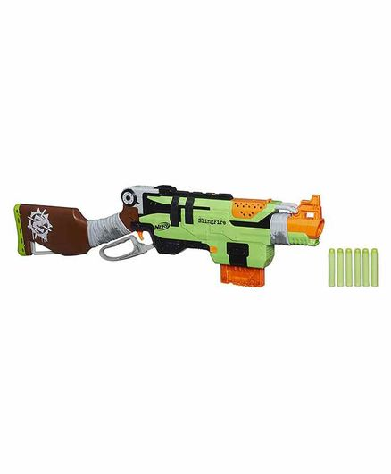 Nerf Zombie Strike Slingfire Green Online India Buy Toy Guns For 8