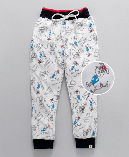 df6eafbb5c Buy Olio Kids Full Length Lounge Pant Puppy Print Off White for Boys (18-24  Months) Online in India, Shop at FirstCry.com - 2156729