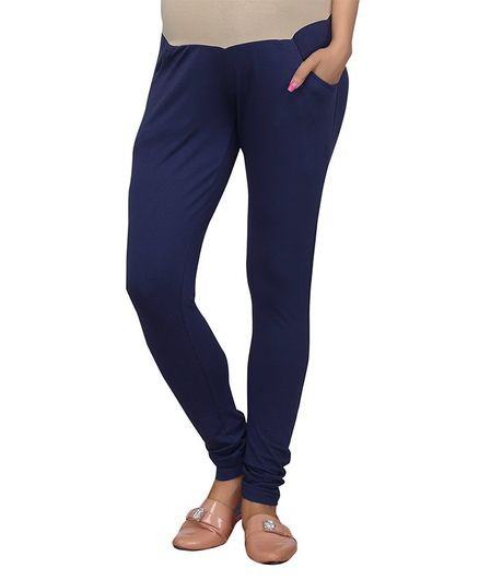 9189ec6b306cc2 Kriti Full Length Maternity Leggings With Tummy Hug Navy Blue ...