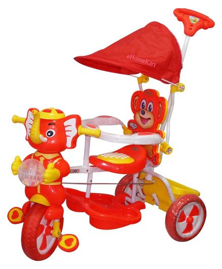 01d39028f73c Funride Tiscon Elephant Design Tricycle With Canopy Red Online in ...