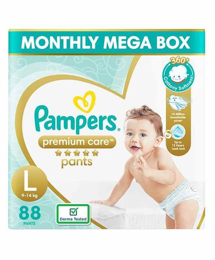 Pampers Premium Care Pant Style Diapers Large Size - 88 Pieces