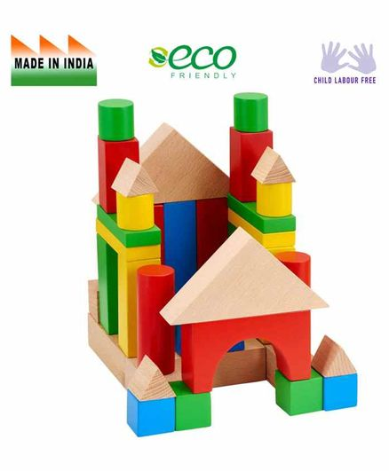 Eduedge Wooden Large Building Blocks - Multi Color