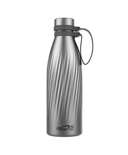Home Puff H15 Couture Thermos Double Wall Vacuum Insulated Stainless Steel Water Bottle Grey - 500 ml