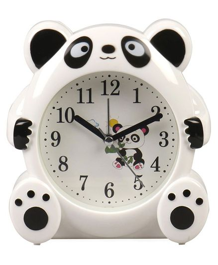 Panda Shaped Alarm Clock - White & Black