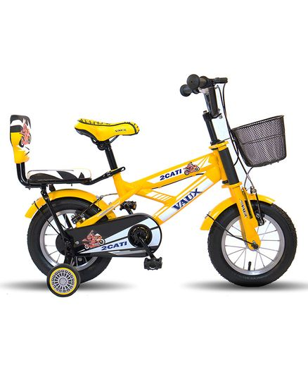 443b29836 Vaux Bicycle With Trainer Wheels Yellow 12 inches Online in India ...