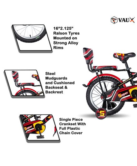 7c1855e8f3b Vaux Super 16@DQ@ Red Kids Bicycle For Boys Online in India, Buy at ...