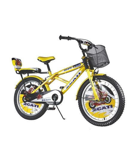 1b28a8394 Vaux Kids Bicycle With Basket Yellow 20 inches Online in India