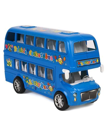 Dr  Toy Double Decker Toy Bus Blue for (3-8 Years) Online India, Buy at  FirstCry com - 2180290