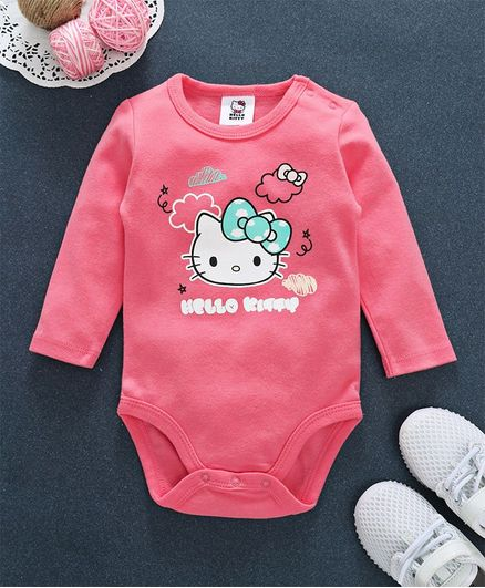 f683acb5e Buy Fox Baby Full Sleeves Onesie Hello Kitty Print Pink for Girls (3-6 ...