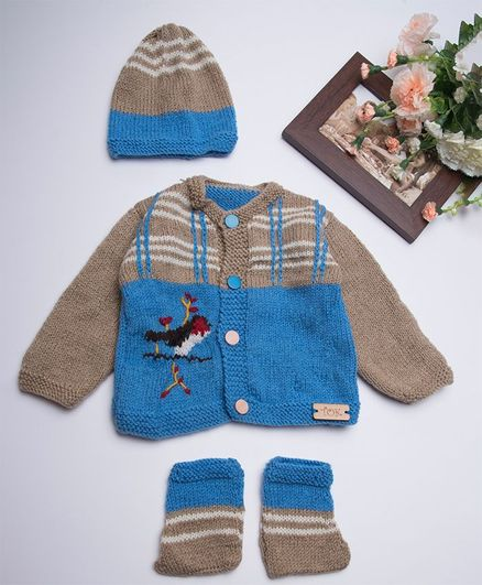 a218e9c3a Buy The Original Knit Full Sleeves Sweater With Cap   Booties Bird ...