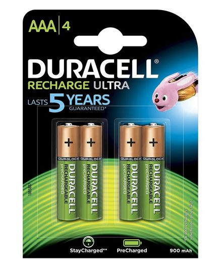 Duracell Ultra Alkaline AAA Batteries Pack Of 4 - 900 mAh