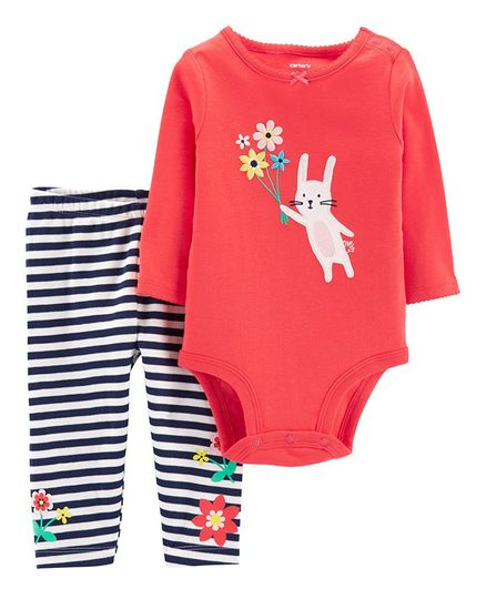 d3ccb4011 Buy Carters 2Piece Bunny Bodysuit Pant Set Red for Girls (0-3 Months ...