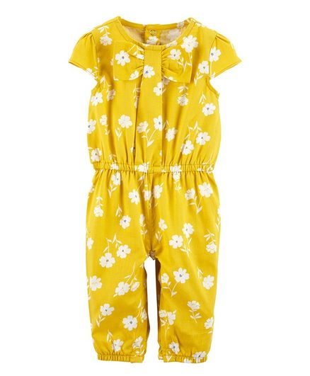 Carter's Floral Romper - Yellow