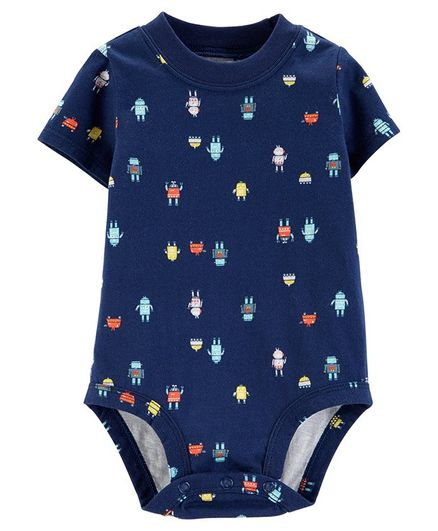 Carter's Robot Collectible Bodysuit - Navy Blue