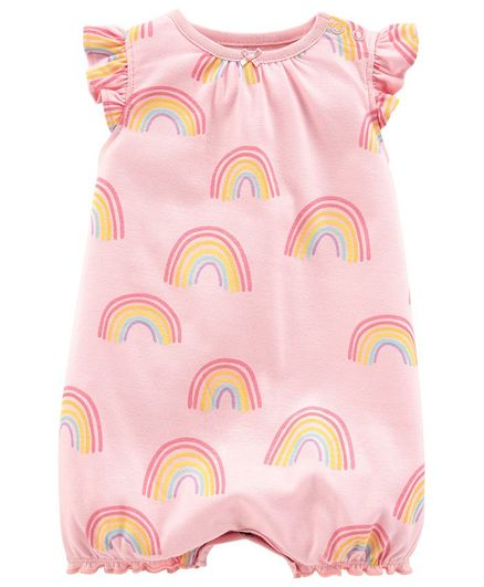 Carter's Rainbow Cotton Romper - Pink