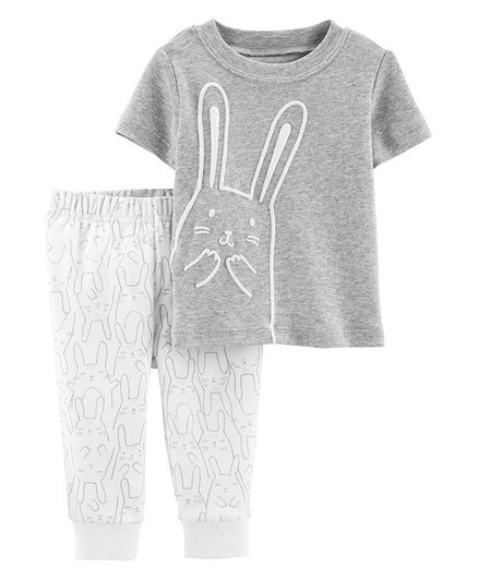 c7b615b83 Buy Carters 2Piece Bunny Top & Pant Set Grey for Both (3-6 Months ...