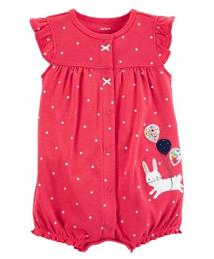 278b4740e Buy Carters Bunny SnapUp Romper Red for Girls (6-9 Months) Online ...