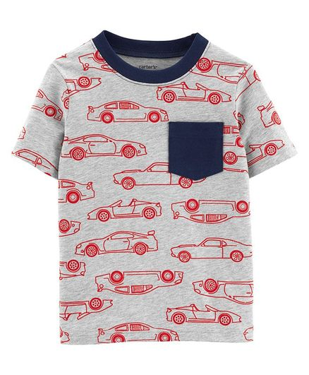 ddfbaff3a Buy Carters Race Car Pocket Jersey Tee Grey for Boys (3-6 Months ...