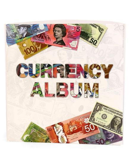 Paper Money Album Currency Banknote Case Storage Collection With Box Gift RS