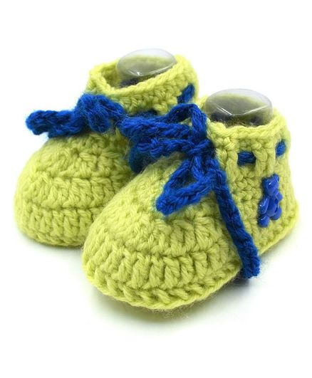 a6b8fdd6a7d7c Buy Magic Needles Handmade Crochet Booties Green for Both (3-6 Months)  Online, Shop at FirstCry.com - 2213183