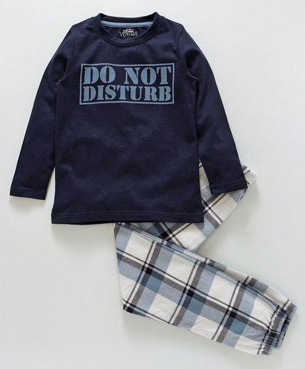 Do Not Disturb Pajama Short Set 2 Pc Up All Night Sleepwear Size Large