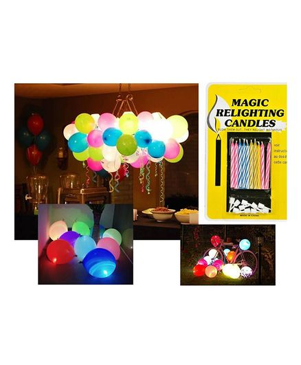 Party Propz Relighting Candles & Balloons Set Multicolour - 45 Pieces