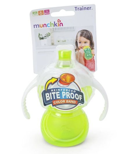 Munchkin Bite Proof Trainer Cup Green - 207 ml