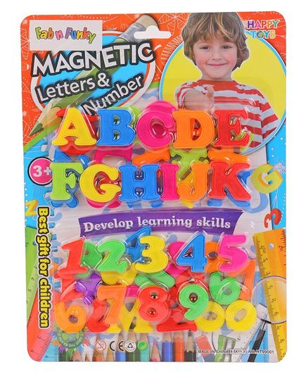 Magnetic Letters & Numbers - Colour May Vary