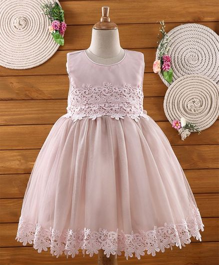 Amigo 7 Seven Lace At Border Sleeveless Dress - Pink