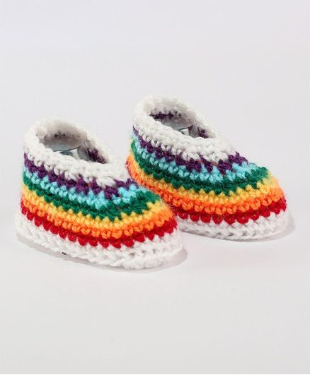 4423a6522a Buy Knits & Knots Rainbow Design Booties Multi Color for Girls (6-9 Months)  Online, Shop at FirstCry.com - 2249931