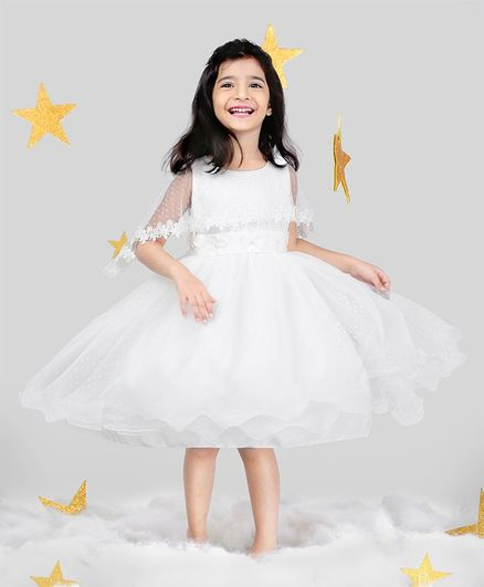 2b6a57281e Buy Mark & Mia Flower Embroidery Cape Gown White for Girls (18-24 Months)  Online in India, Shop at FirstCry.com - 2254044