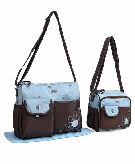 9696e51ff Baby Diaper Bags Floral Print Pack of 2 Blue Brown Online in India ...