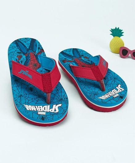 7e6b026f4bf6 Buy Spider Man Printed Flip Flops Blue for Boys (2-2 Years) Online ...