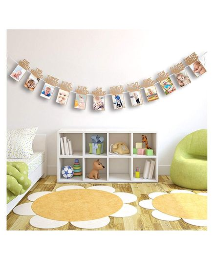Skylofts Baby Photo Banner - Beige