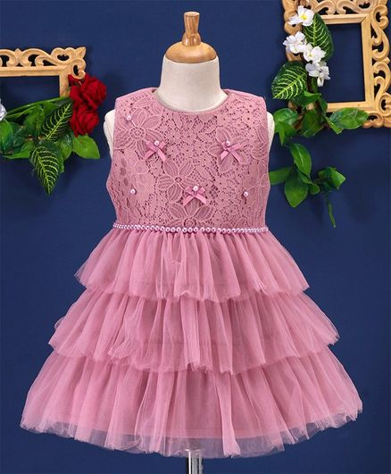 70bd8339b4d51 Buy Mark & Mia Flower Embroidery Sleeveless Tiered Dress Pink for ...