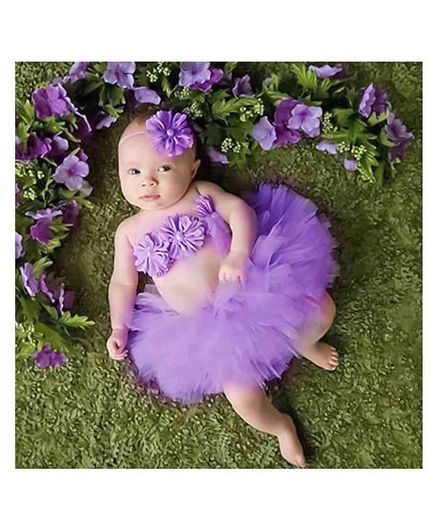 0cba64087b Babymoon Princess Tutu Outfit Pack of 3 Purple for Girls (0-6 Months ...