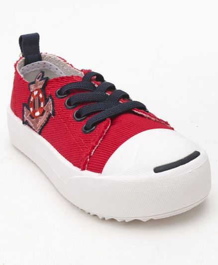 43def9cb Buy Cute Walk by Babyhug Casual Canvas Shoes Red for Boys (3-3 ...