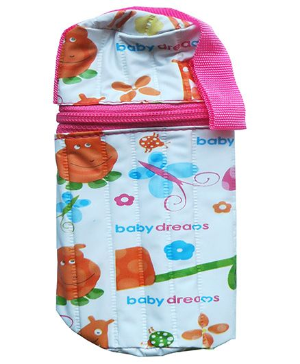 Morisons Baby Dreams Printed Feeding Bottle Cover Pink - Fits Bottle Up To 125 ml