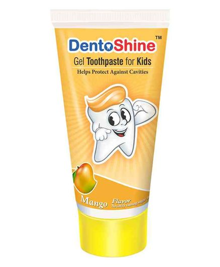 DentoShine Mango Flavoured Gel Toothpaste - 80 gm