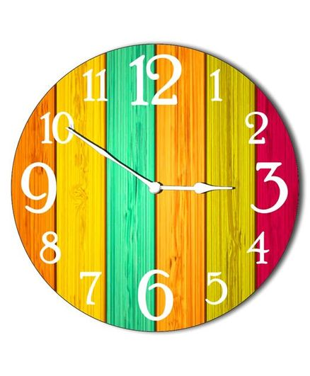Studio Shubham Colourful Wooden Wall Clock Multicolour Online In