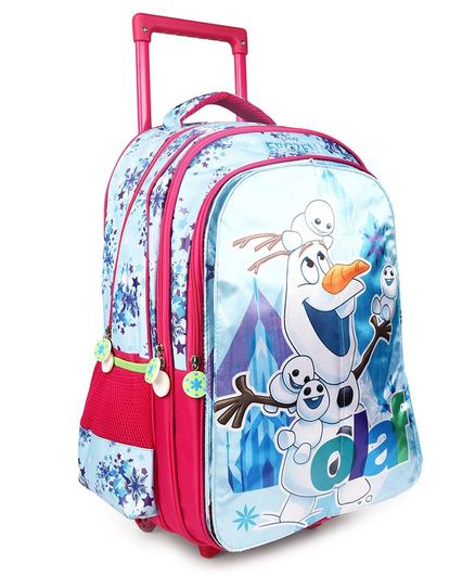 50de9a8671 Disney Frozen Flap Trolley School Bag Blue Height 18 Inches (Prints May  Vary) Online in India